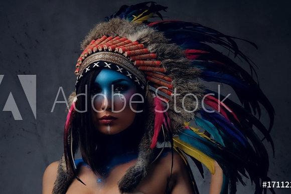Kleurrijke Indiaanse vrouw
