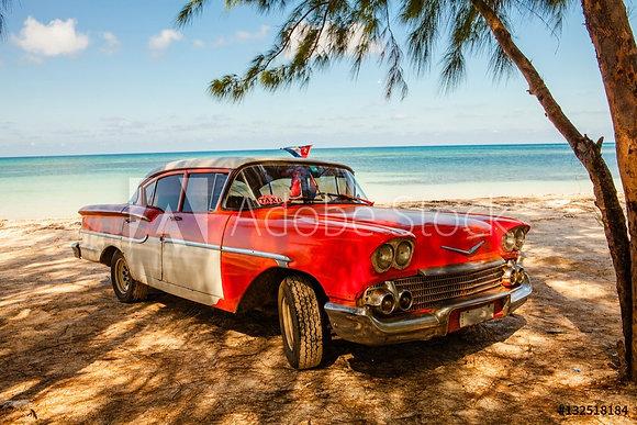 Oldtimer op het strand