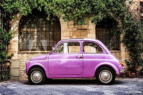 Roze Fiat 500