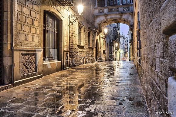 Gotisch straatje in Barcelona