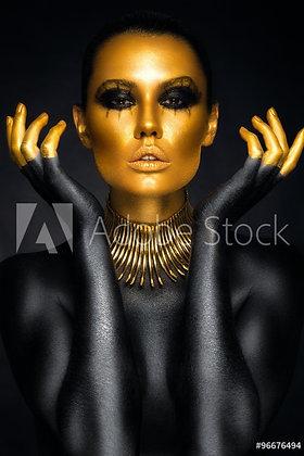 Portret in Goud & Zwart