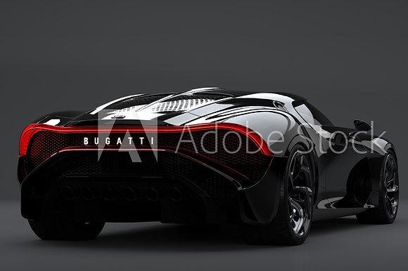 Bugatti op grijze achtergrond