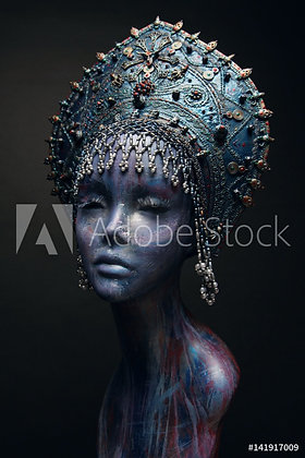 Mannequin in silver