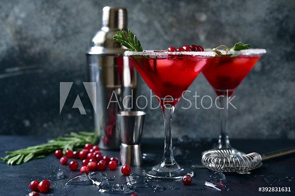Rode veenbessen cocktail
