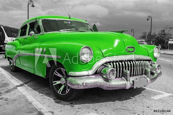 Green American Car