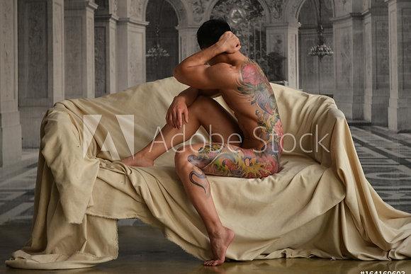 Asian tattoo man