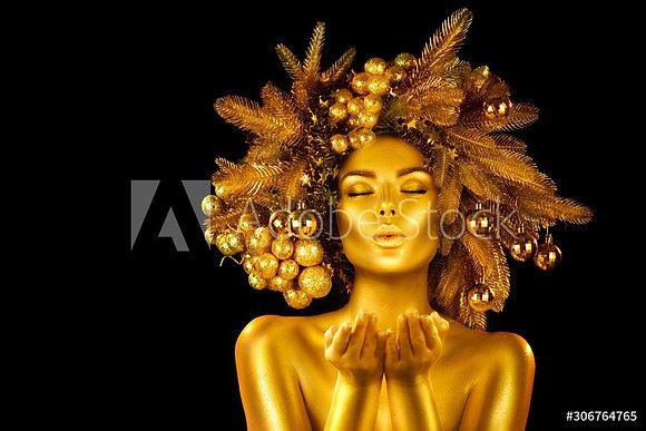 Christmas Golden Girl
