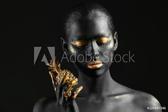 Black & gold girl