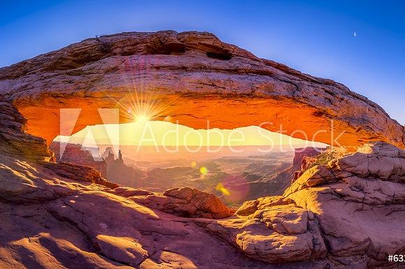 De boog van Mesa in Utah