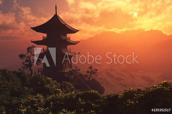 Chinees huis in de bergen