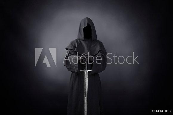 Geest met zwaard