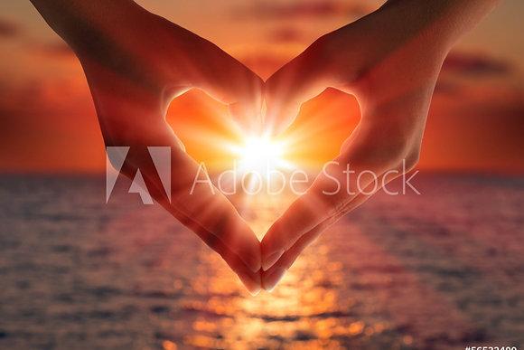 Zonsondergang in een hart