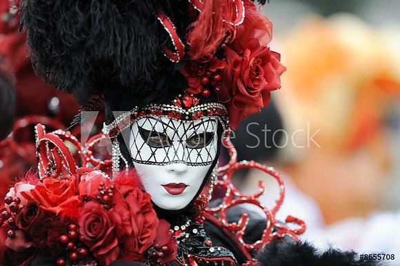Verkleed in rood-zwart voor carnaval