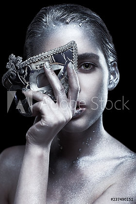 Silver girl with mask
