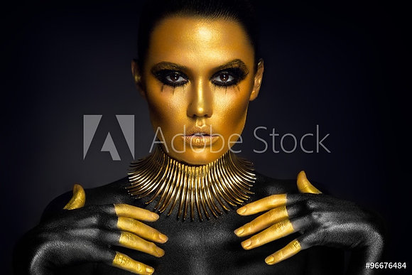 Black & Gold woman