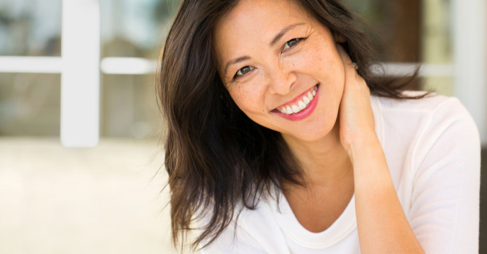 woman smiling dental implant manassas va