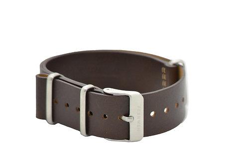 Brown calfskin leather NATO