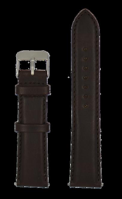 Brown calfskin leather strap
