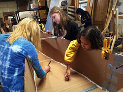 Cardboard boat collaboration