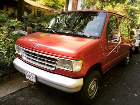 Free transportation! Meet Big Red!