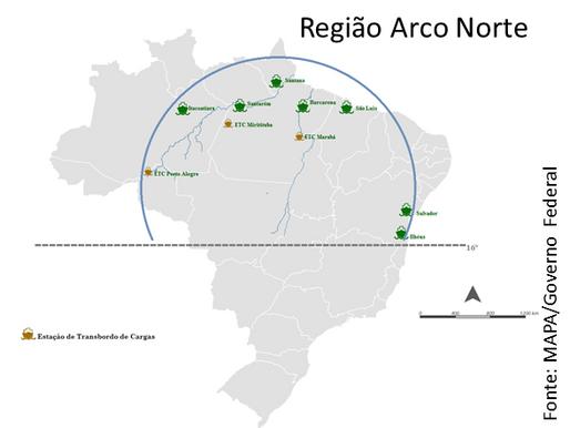 Arco Norte: A via para saída de grãos e o desafio logístico brasileiro