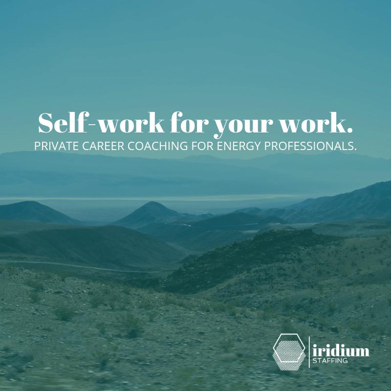 Iridium Staffing career coaching for energy professionals.