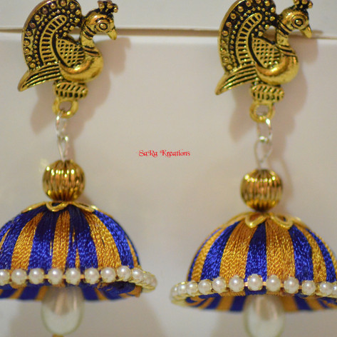 Blue and Gold Jhumkha