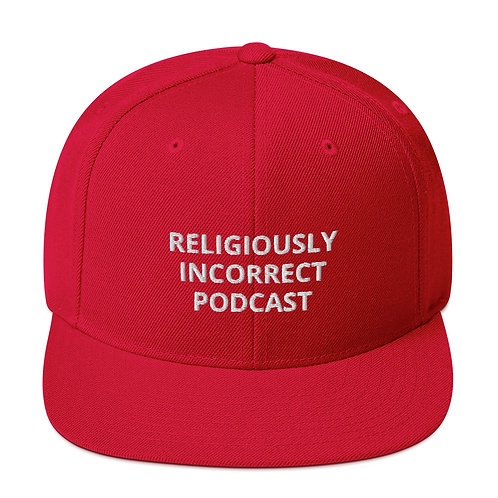 Religiously Incorrect Podcast Snapback Red