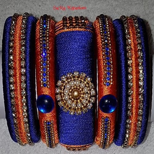 Blue - Orange Bangles
