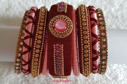 Brown - Pink Bangles