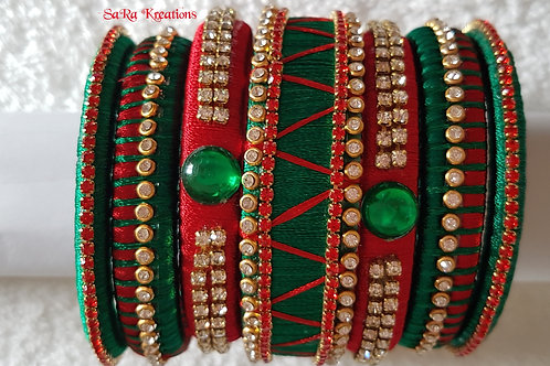 Red - Green Bangles