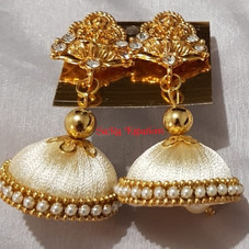 Cream Jhumkha