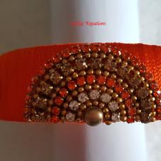 Orange Kada Bangle