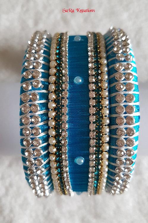 Blue - White Bangles