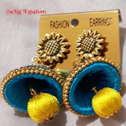 Blue - Yellow Jhumkha
