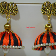 Black and Orange Jhumkha