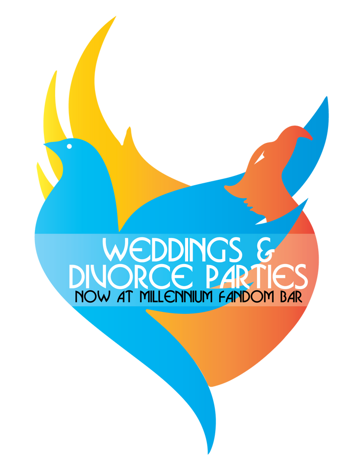 Weddings and Divorce Party Logo