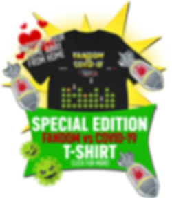 Limited Edition Fandom vs Covid-19 / Corona Virus T-Shirt