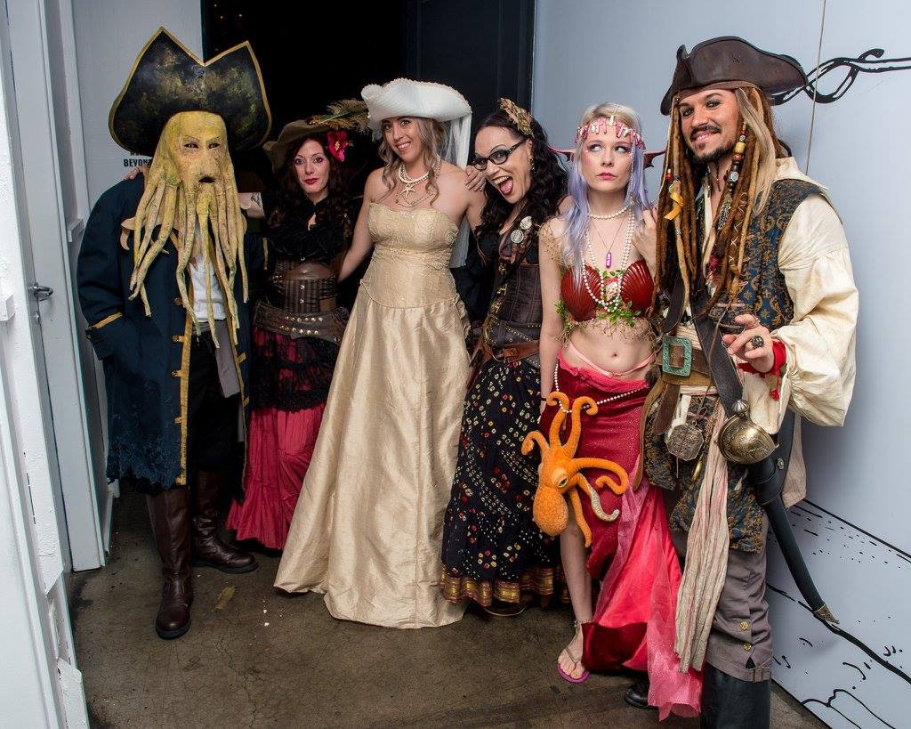 Pirate Themed Wedding - Group Photo