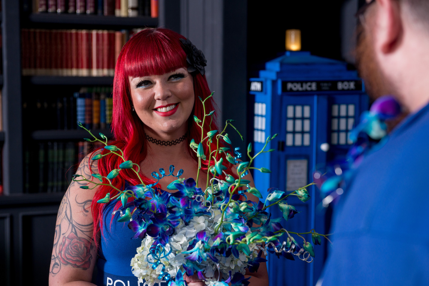 Bride in Doctor Who themed Cosplay