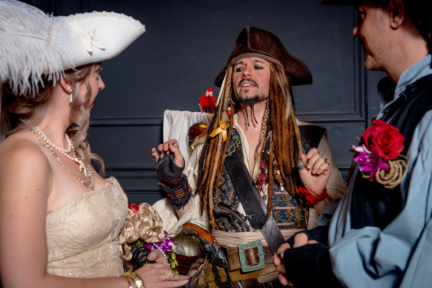 Pirate Themed Wedding - Captain Jack is a Priest!