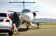 Person boarding a business jet