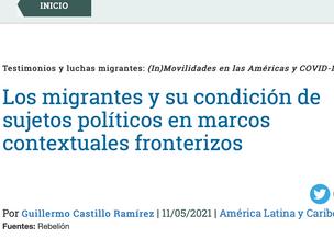 Los migrantes y su condición de sujetos políticos en marcos contextuales fronterizos