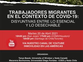 PRÓXIMO EVENTO Trabajadores Migrantes en el Contexto de COVID-19