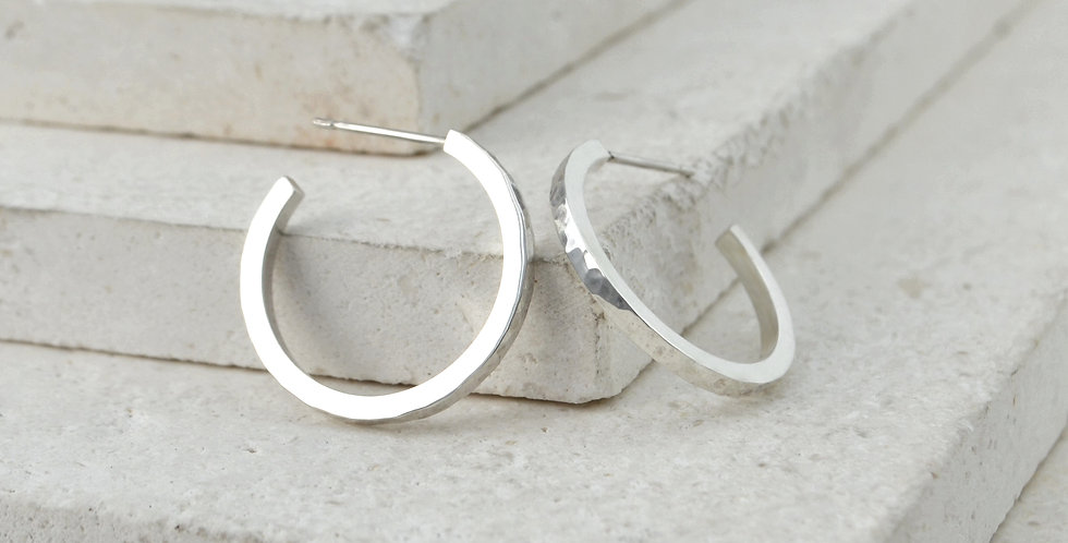Flicker Hoops - Silver