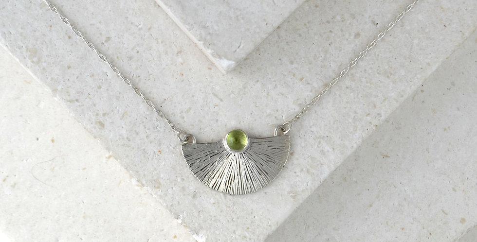 Sunbeam Pendant - Silver & Peridot