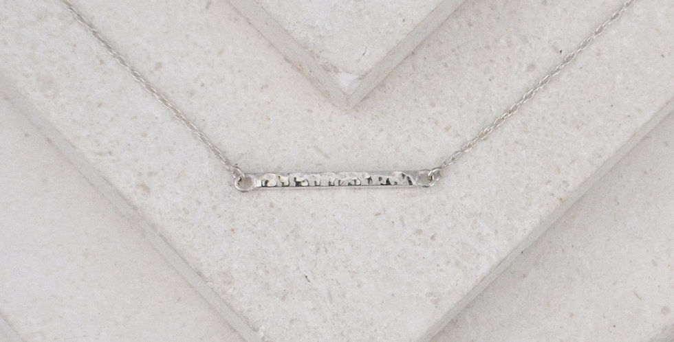 Flicker Bar Pendant - Silver