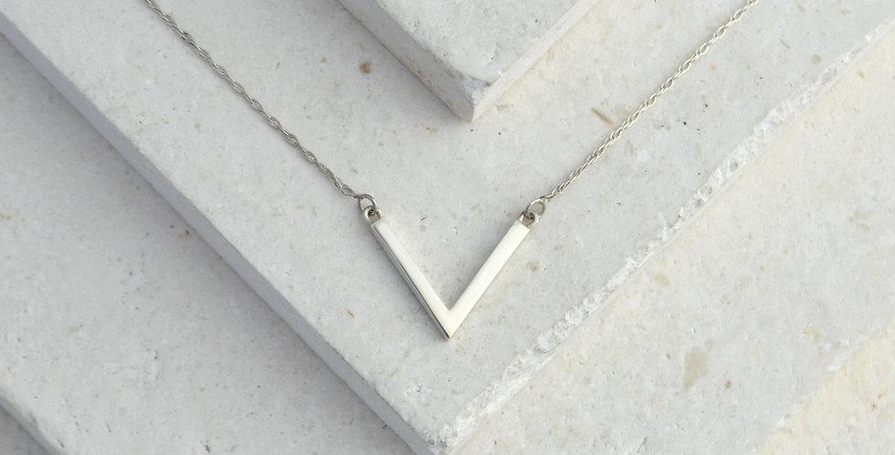 V Pendant - Silver