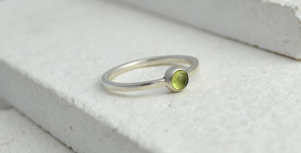 Elemental Ring - Silver & Peridot