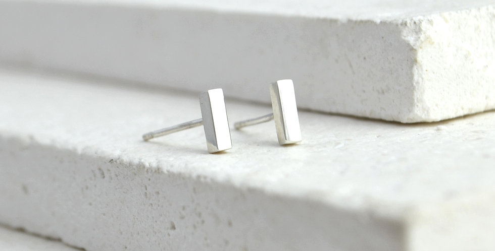 Mini Line Studs - Silver